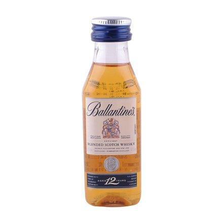 40°英国百龄坛十二年调和型苏格兰威士忌50ml