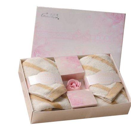 紫荆秀彩棉花香毛巾