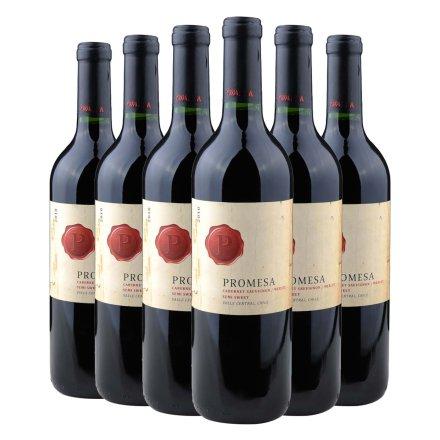 智利普罗米萨混酿赤霞珠/美乐半甜红葡萄酒750ml(6瓶装)