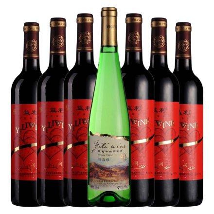 益利永结同心干红*6+益利精选级半甜葡萄酒