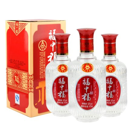 52°五粮液福中福祝君万福475ml(3瓶装)
