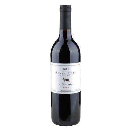 澳大利亚斑马虎美乐干红葡萄酒750ml