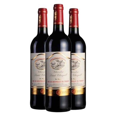法国木桐夏嘉城堡干红葡萄酒750ml(3瓶装)