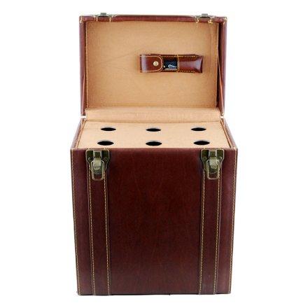 皮盒酒具六支装