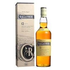 40°克拉格摩尔12年单一麦芽苏格兰威士忌700ml