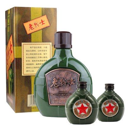 52°老战士革命小酒纪怀旧版(小水壶)125ml*2+52°老战士陈年老窖500ml