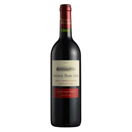 【清仓】法国红酒杜隆波尔多产区圣母简古堡干红葡萄酒2010 750ml
