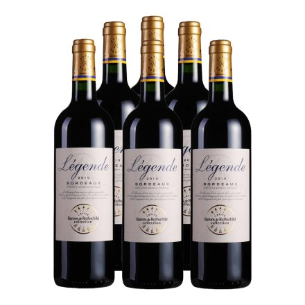 法国拉菲传奇波尔多干红葡萄酒(6瓶装)