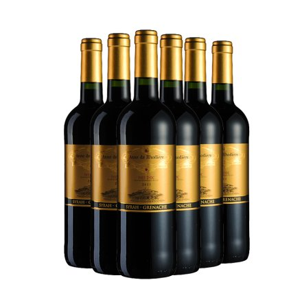 法国赫德安妮干红葡萄酒750ml(6瓶装)