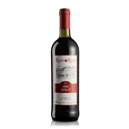 意大利红与红梅洛干红葡萄酒750ml