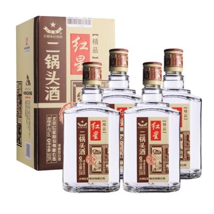 (清仓)46°红星二锅头四合院500ml (4瓶装)