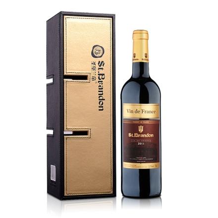 法国圣堡兰帝干红葡萄酒单支多功能礼盒套装