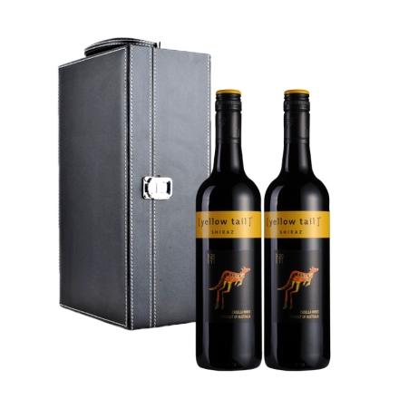 澳大利亚黄尾袋鼠西拉干红葡萄酒双支礼盒装