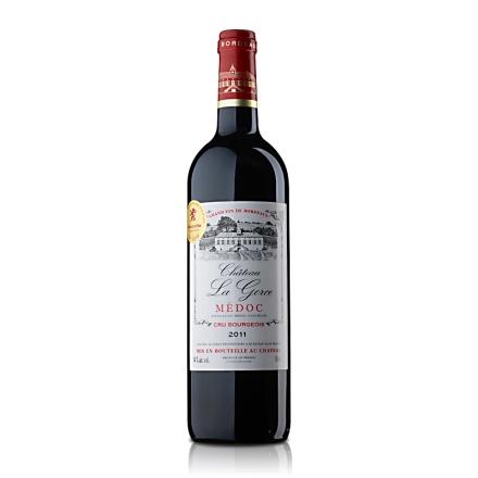 【随时随意波尔多】法国红酒原瓶进口中级庄葛斯城堡干红葡萄酒750ml