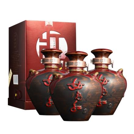 52°女儿红坛藏陆年白酒500ml(3瓶装)
