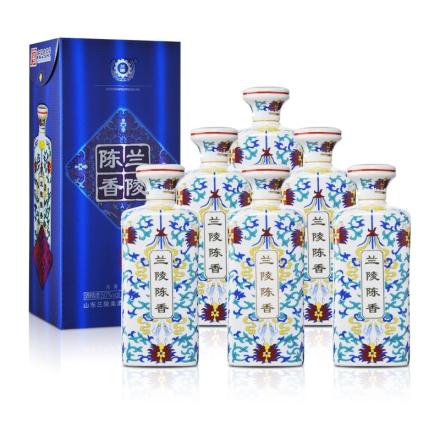 50°兰陵陈香蓝尊瓷瓶500ml(6瓶装)
