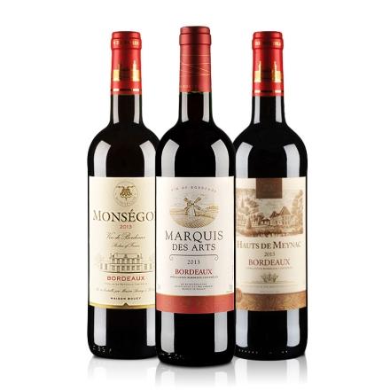 法国波尔多AOC宝悦世家系列葡萄酒3瓶装