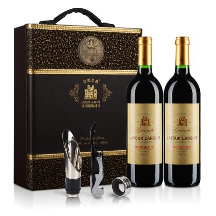 法国原瓶进口拉图兰爵典藏吉伦特干红葡萄酒750ml*2
