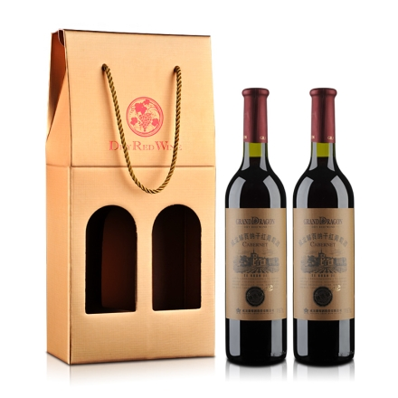 威龙 特选解百纳干红葡萄酒 礼盒750ml*2