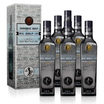 46°洞宝时尚Golf纯粮酿造浓香白酒500ml(6瓶装)