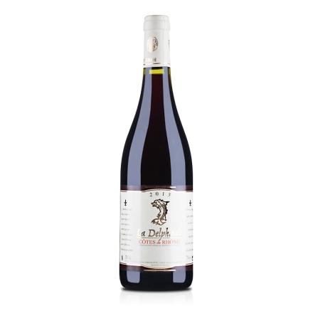 法国红酒法国原瓶进口AOC德尔菲娜干红葡萄酒750ml