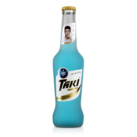 【清仓】4.1°达奇TAKI蓝莓味伏特加鸡尾酒(预调酒) 夜场装 275ml
