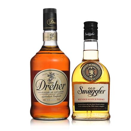 苏格兰施美格威士忌700ml+巴西卓尔白兰地 900ml