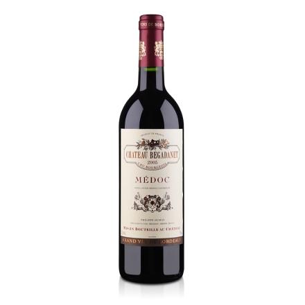 【清仓】法国梅多克中级庄贝卡塔瑞酒庄2005干红葡萄酒750ml