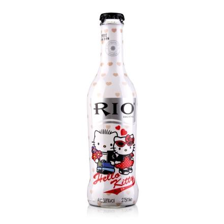 【清仓】3.8°中国上海锐澳宾治味伏特加鸡尾酒helloKitty3(预调酒)275ml