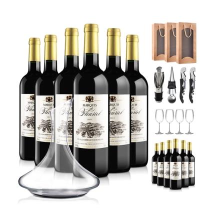 法国富乐男爵干红葡萄酒大礼包