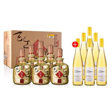 52°酒鬼酒(天工开物)1L(6瓶装)+美国32领域桑特庄园麝香甜白葡萄酒750ml(6瓶装)