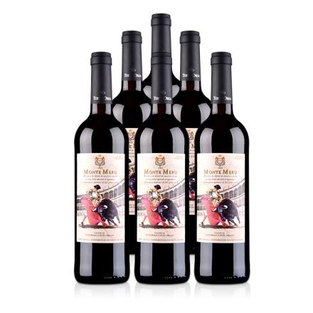西班牙奥兰骑士酒庄蒙特斗牛士DO级干红葡萄酒750ml(6瓶装)