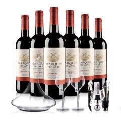 法国波尔多AOC美意爵干红葡萄酒大礼包
