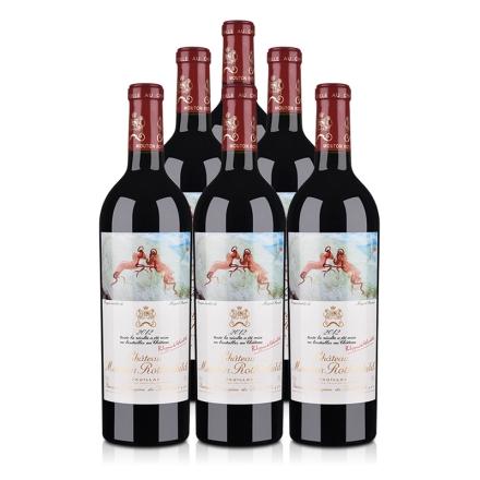 (列级庄·名庄·正牌)法国红酒整箱木桐酒庄2012干红葡萄酒750ml(6瓶装)