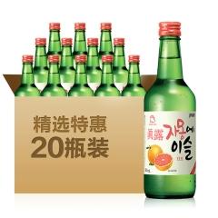 13°韩国真露西柚烧酒360ml(20瓶装)