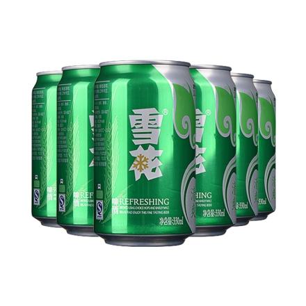 雪花啤酒清爽330ml(6瓶装)
