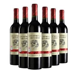 中国华夏长城经典红标解百纳干红葡萄酒750ml(6瓶装)