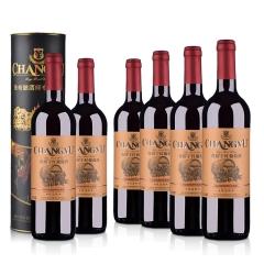 整箱红酒张裕优选级干红葡萄酒750ml(6瓶装)