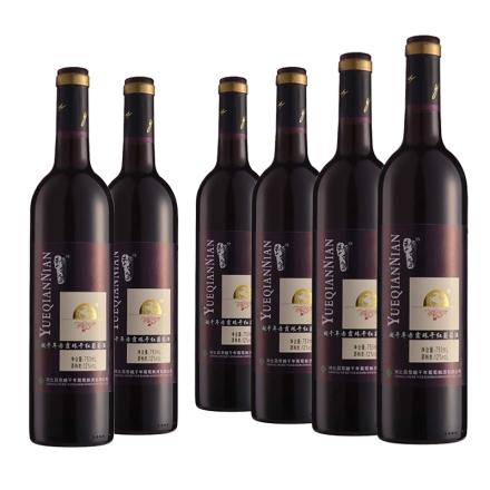 中国越千年蓝标赤霞珠干红葡萄酒(6瓶装)