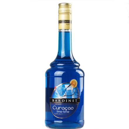 法国必得利蓝橙味糖浆700ml
