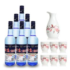 52°北京二锅头酒 750ml(6瓶装)+陶瓷酒具