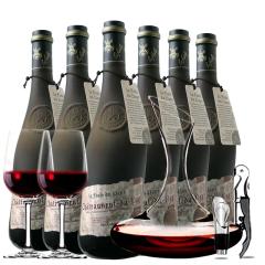 法国原瓶进口红酒教皇新堡芙华干红葡萄酒红酒整箱750ml*6