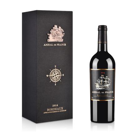 法国(原瓶进口)龙船海军上将干红葡萄酒750ml(单只礼盒装)