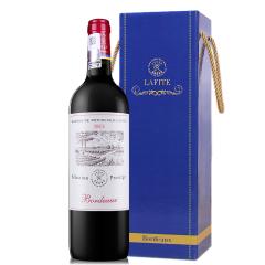 法国拉菲尚品波尔多干红葡萄酒 750ml单支礼盒(ASC正品行货)