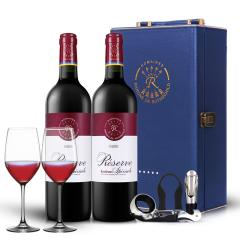 法国拉菲珍藏波尔多干红葡萄酒750ml双支礼盒(ASC正品行货)