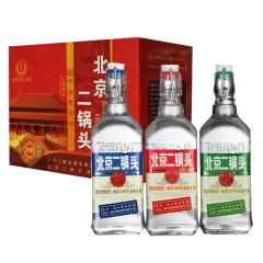 42°永丰北京二锅头出口型小方瓶清香型白酒500ml*12(三种标色随机发货)