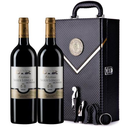 【中级庄】法国原瓶进口红酒史嘉隆庄园干红葡萄酒 2支红酒礼盒装750ml*2