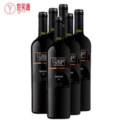 康纳斯顿梅洛干红葡萄酒黑标750ml 6支装