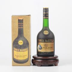 约80年代三桶牌法國拿破仑陳年白兰地 40度700ml(洋酒)