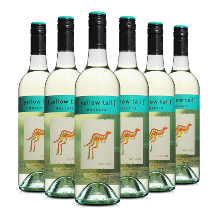 澳大利亚原装进口红酒 黄尾袋鼠幕斯卡白葡萄酒750ml*6